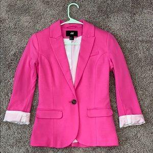H&M Pink Blazer sz 2